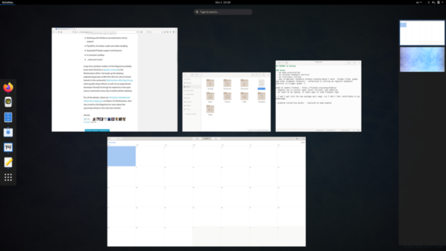 Gnome Shell - Activities overview