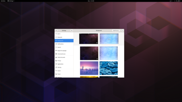 Gnome Settings - Background wallpapers