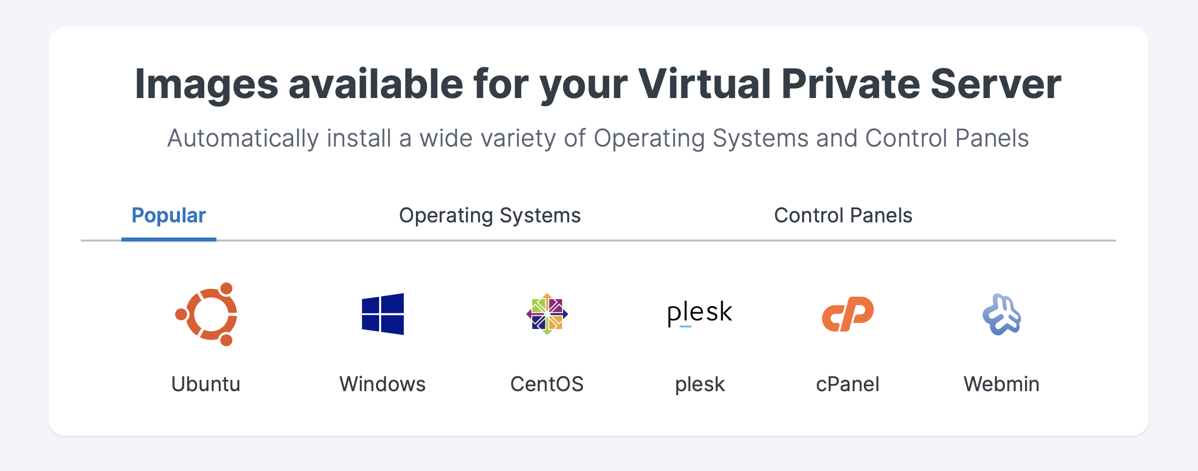 Contabo VPS Popular OS/apps