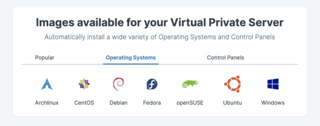 Contabo VPS OS Selection